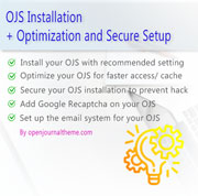 OJS installation and optimization