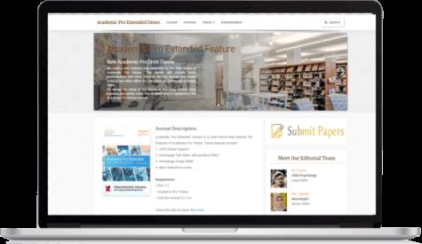preview academic_Pro version OJS 3 theme