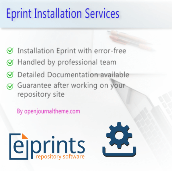 Eprint repository Installation Service by openjournaltheme