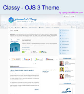 OJS Theme-Classy-Openjournalthem
