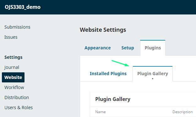 "Select ""Plugin Gallery"""