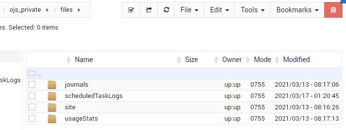 """files"" folder to store OJS data*"