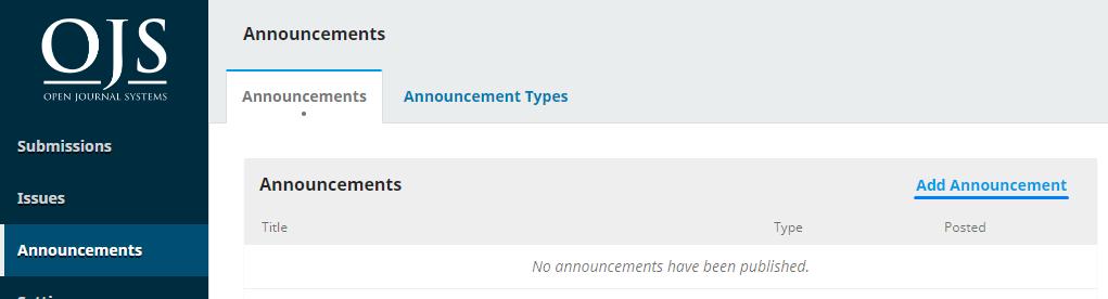 """Adding an """"Announcement"""""""
