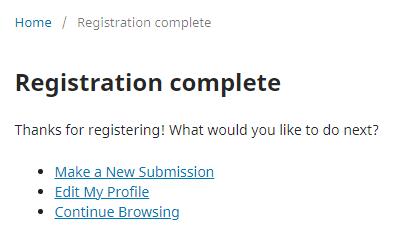 Registration Complete!
