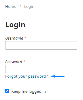 """Select """"Forgot your password?"""" to reset the account password."""