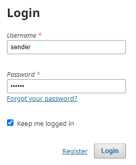 Enter the password that was copied earlier.