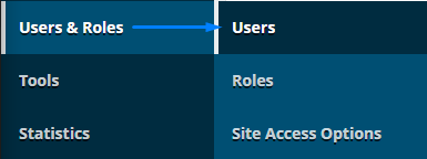 Go to Users & Roles > Users