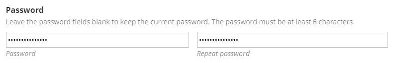 set a new password for the account.
