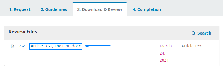 Downloading the article that want to be reviewed