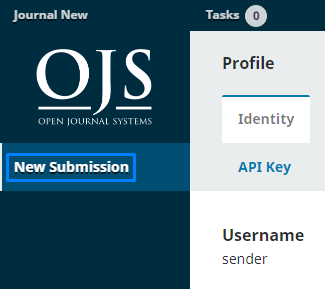 """Click """"New Submission"""" to start submitting our article / journal."""