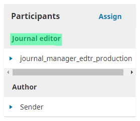 *Successfully assigned an editor for the article*