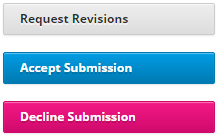 """Choose 1 of 3 options in the """"Review"""" workflow stage"""